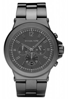 michael kors mk8205 dylan black gun metal metal chronograph mens watch